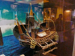Sebuah tampilan model kapal Majapahit di Museum Negara Malaysia, Kuala Lumpur, Malaysia.