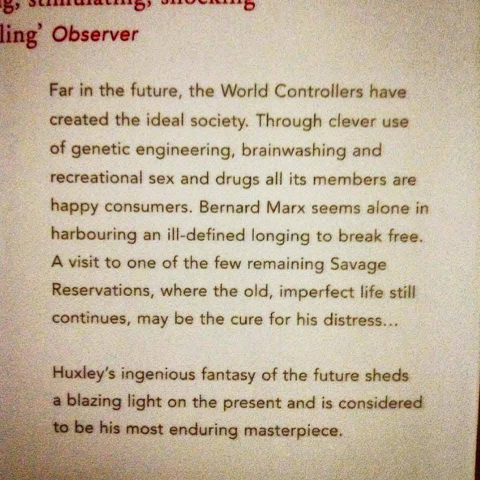 a comparison of todays world and the world created by aldous huxley Extended literary analysis: compare and contrast brave new world and 1984 brave new world by aldous huxley (1931) influenced orwell's own futuristic novel, 1984 huxley's totalitarian state, which exists in london six hundred years in the future, is less grim than orwell's, but its inhabitants are as powerless and oppressed as the .