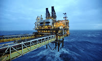 A BP platform in the North Sea. (Photograph Credit: WPA /Getty Images) Click to Enlarge.