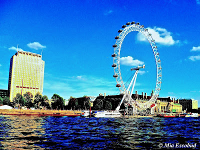 London Eye from the River Thames