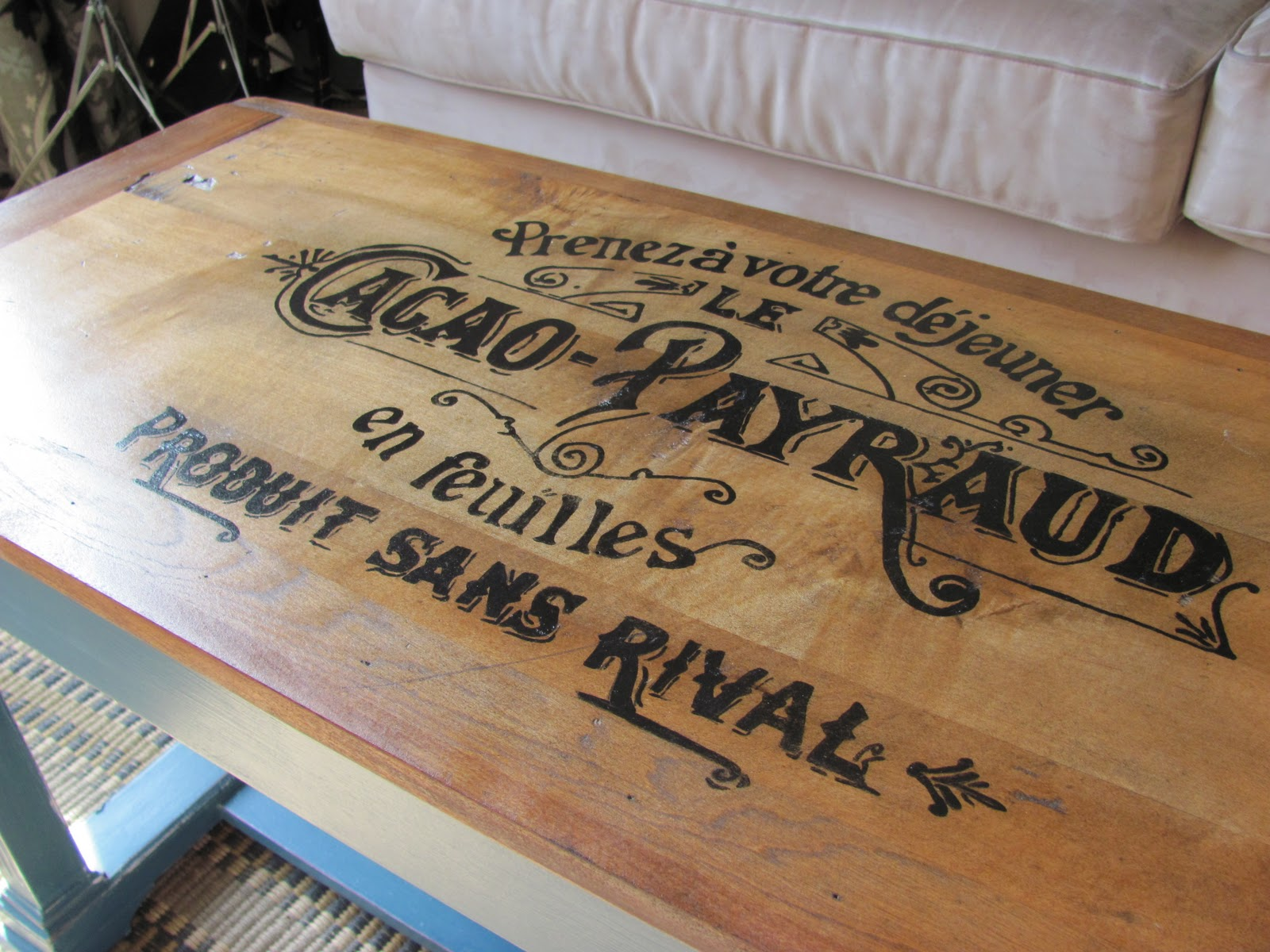 Header: Piano Bench turned Coffee Table