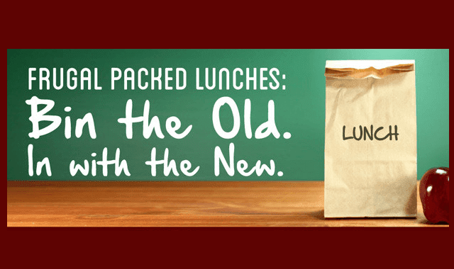 Image: Frugal Packed Lunches: Bin the Old. In with the New