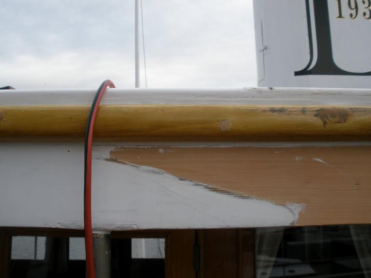 Repaired rim timber