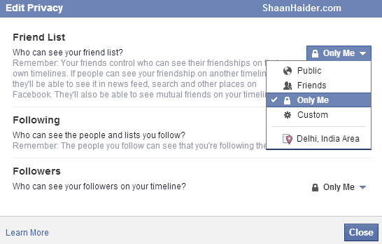 Geeky Stuffs: HOW TO : Hide Your Facebook Friends List