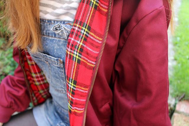 How I Style | Dungarees jacket stripes