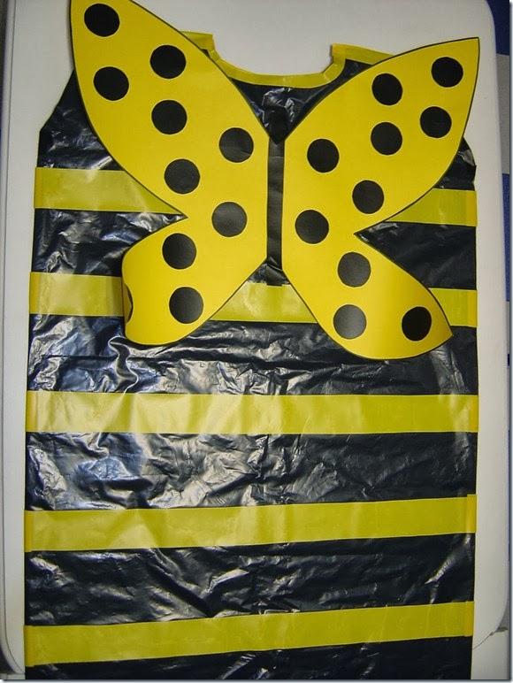 disfraz de abeja para escolares bolsa de basura disfraz de perro