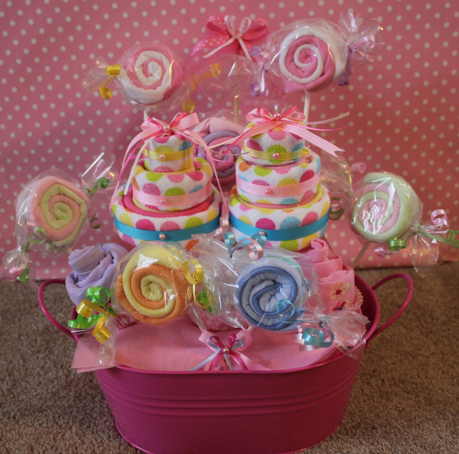 arenita cupcake baby shower wash cloth gift basket