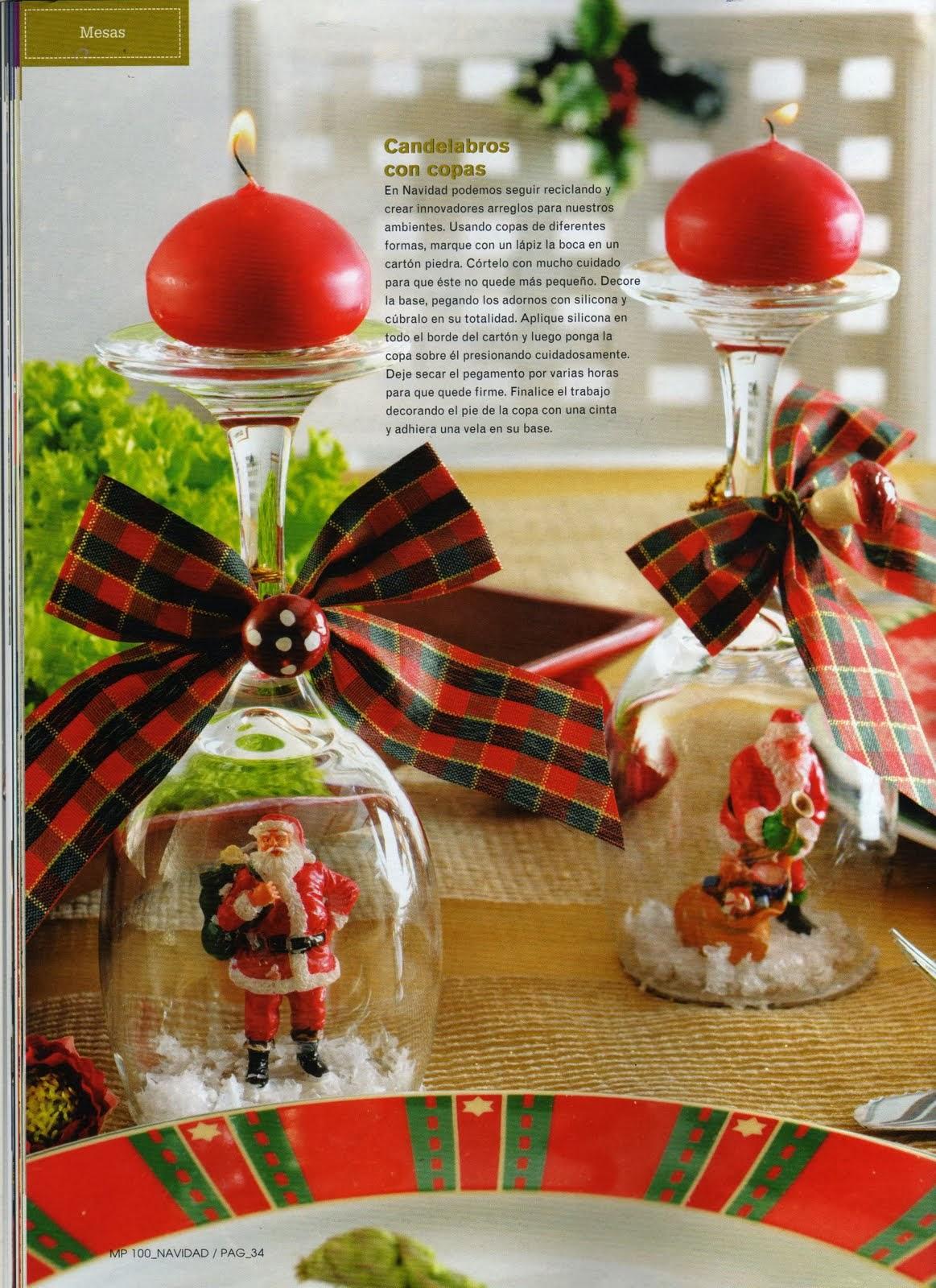 Ideas decorativas para navidad hazlo t mismo - Adornos navidenos con velas ...