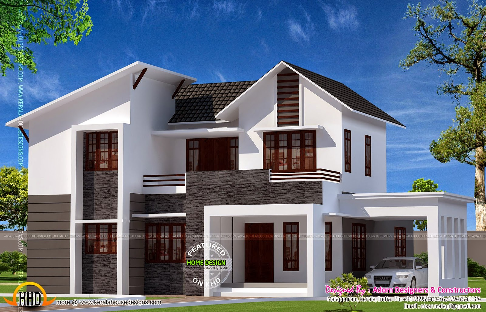 4 bhk sloped roof house kerala home design bloglovin house square feet