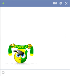 Australia football fan emoticon
