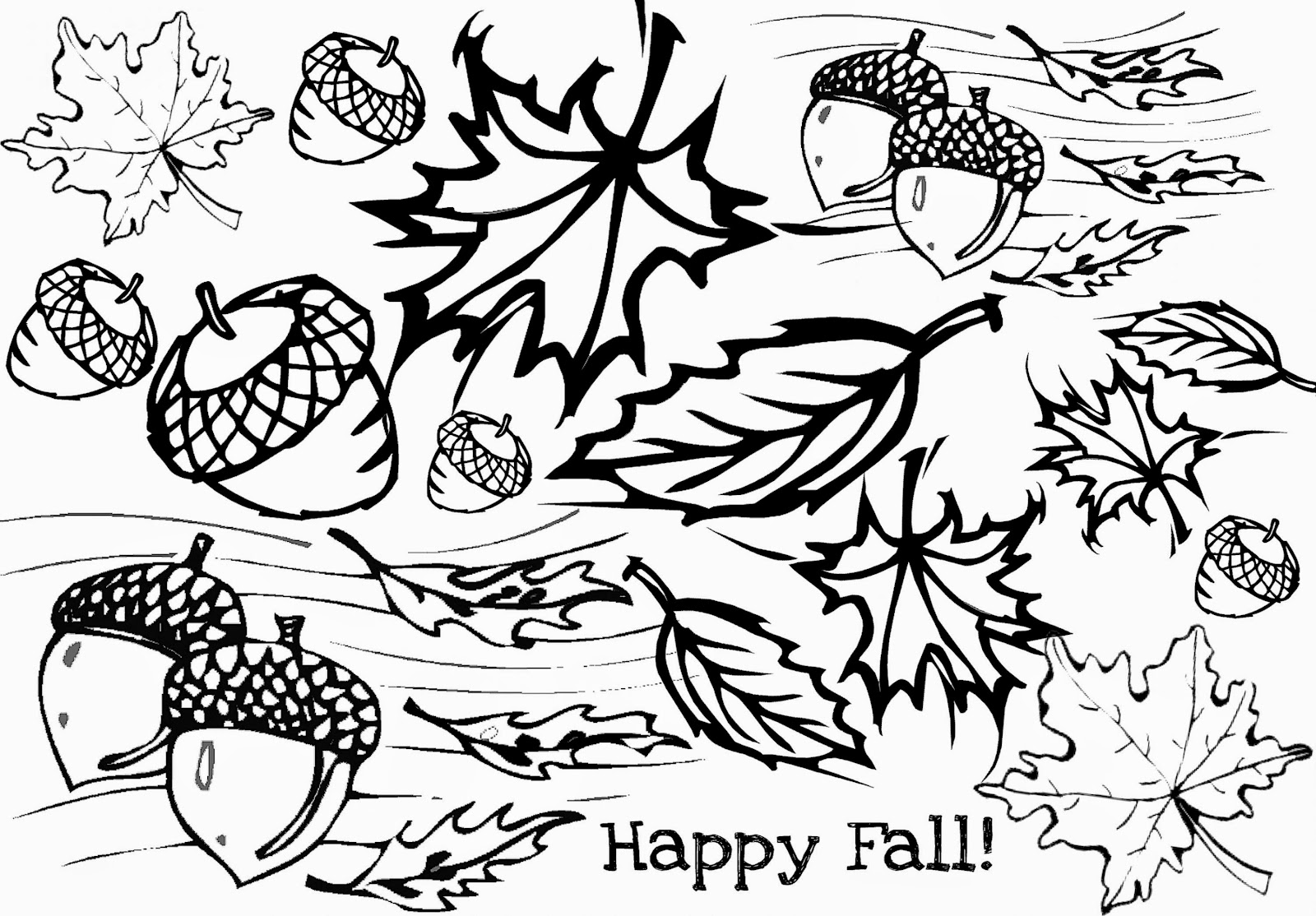 26 best coloring pages fall gekimoe 54289 for Free fall coloring pages