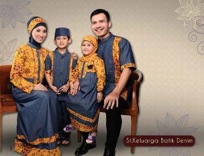 pakaian muslim bapak, ibuk, anak laki dan perempuan