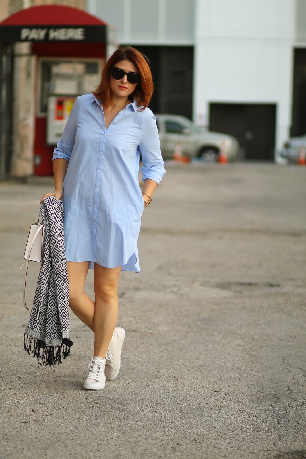 collared, shirtdress, blue