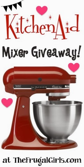 http://thefrugalgirls.com/2014/01/frugal-girls-giveaway-win-a-pretty-red-kitchenaid-mixer.html