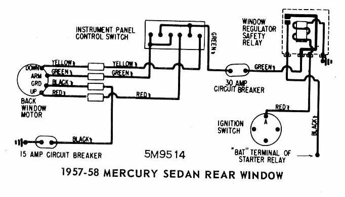 Mercury+Sedan+1957 1958+Rear+Window+Wiring+Diagram mercury sedan 1957 1958 rear window wiring diagram all about Mercury Wiring Diagram at eliteediting.co