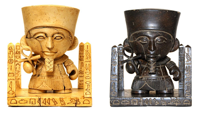 Amun-ny Ra Custom Mini Munny Resin Figure and Variant Colorway by Kevin Gosselin