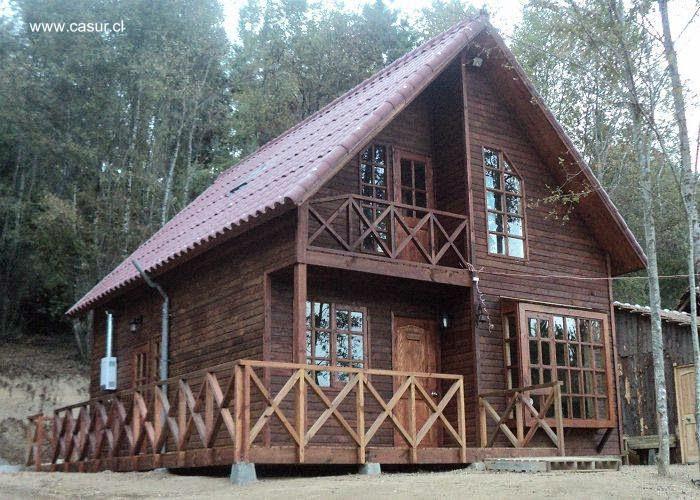 Arquitectura de casas modelos de casas prefabricadas en - Casas de madera de dos plantas ...
