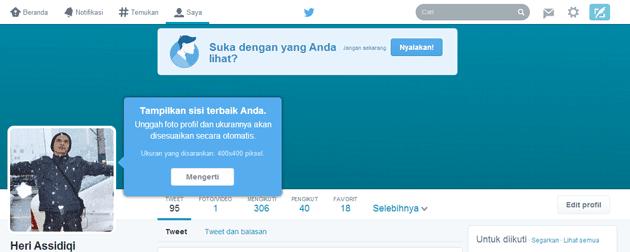Cara Mengaktifkan Tampilan Baru Profile Twitter 2014 2