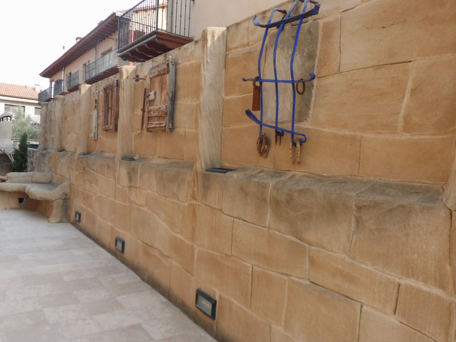 Muros piedra artificial estecha reproducciones - Pared de piedra artificial ...