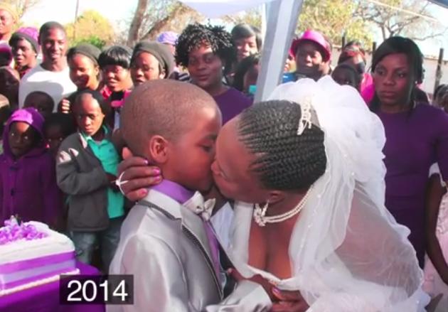 Helen Shabangu kissing Sanele Masilela