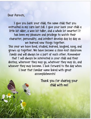 End of school year letter from teacher timiznceptzmusic end spiritdancerdesigns Choice Image