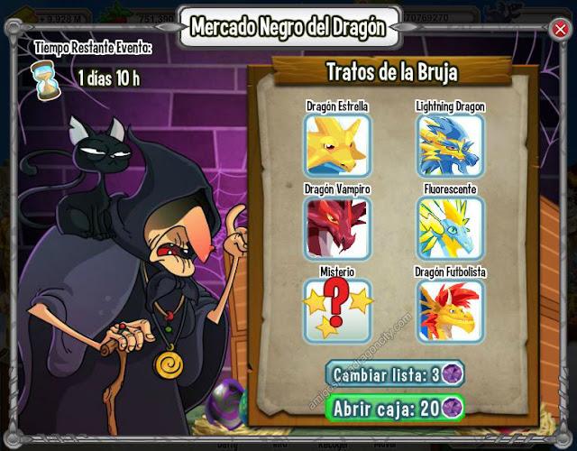imagen del dragon relampago en la primera lista del mercado negro del dragon
