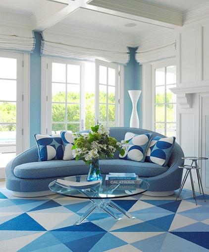 Sala De Estar En Azul ~ Decoración de Salas de color Azul