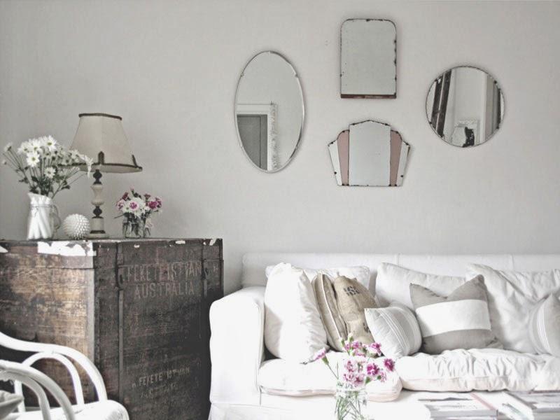 Espejos sin marco 39 vintage 39 o actuales para decorar tus Brocante woonkamer
