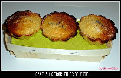 Image Cake au citron en briochette