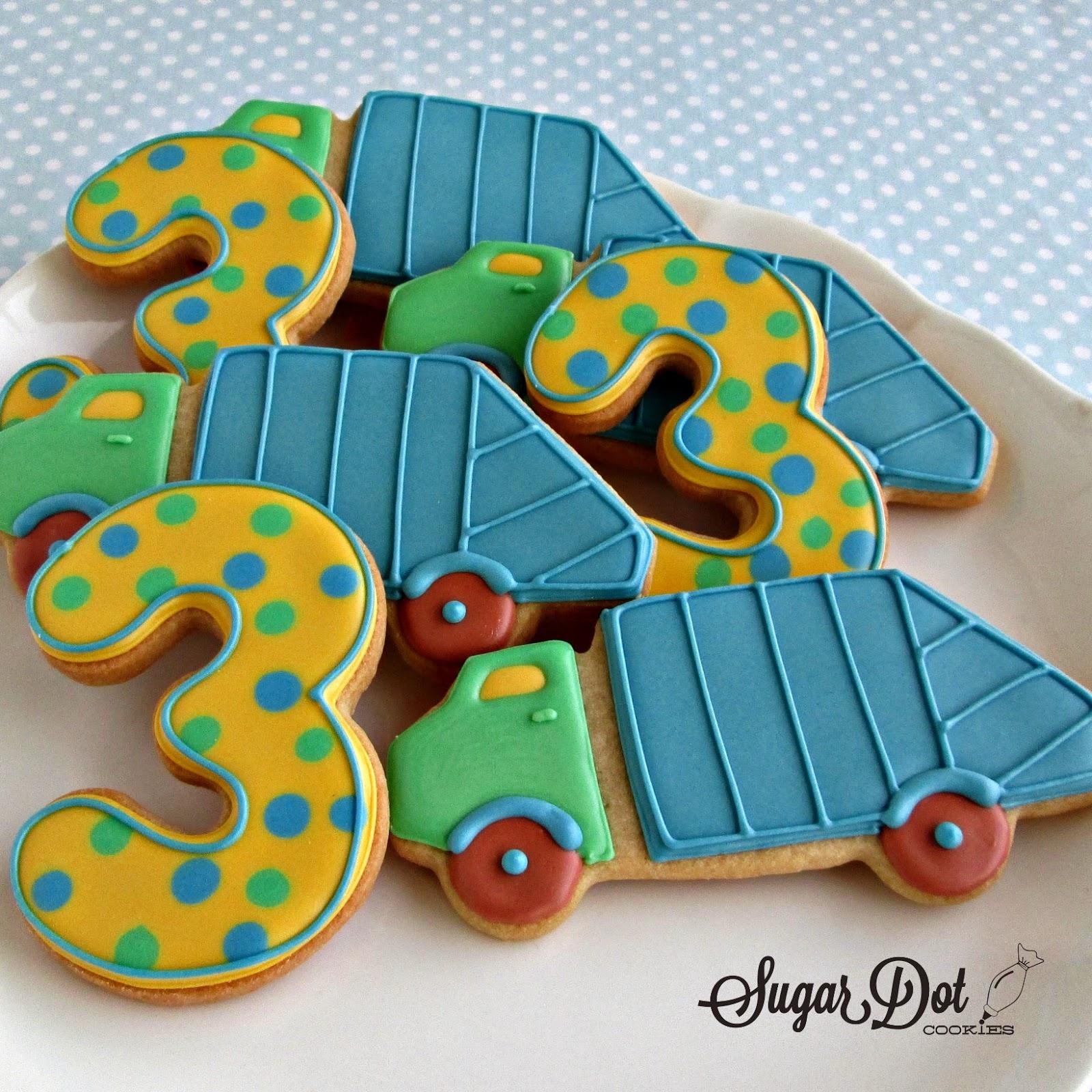 Boy birthday cookies