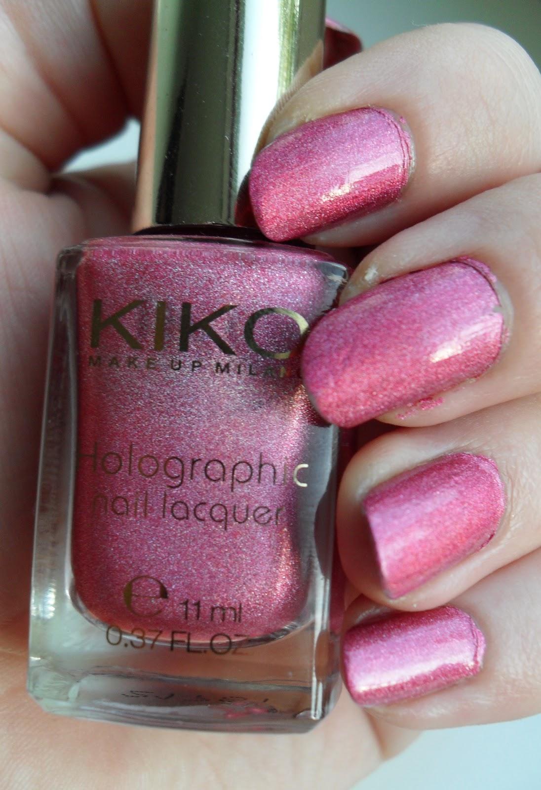 Kitty Cosmetic: Kiko Holographic Nagellack 402 Jewel Pink