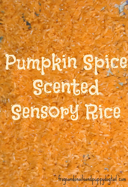 How to make pumpkin spice & orange colored sensory rice