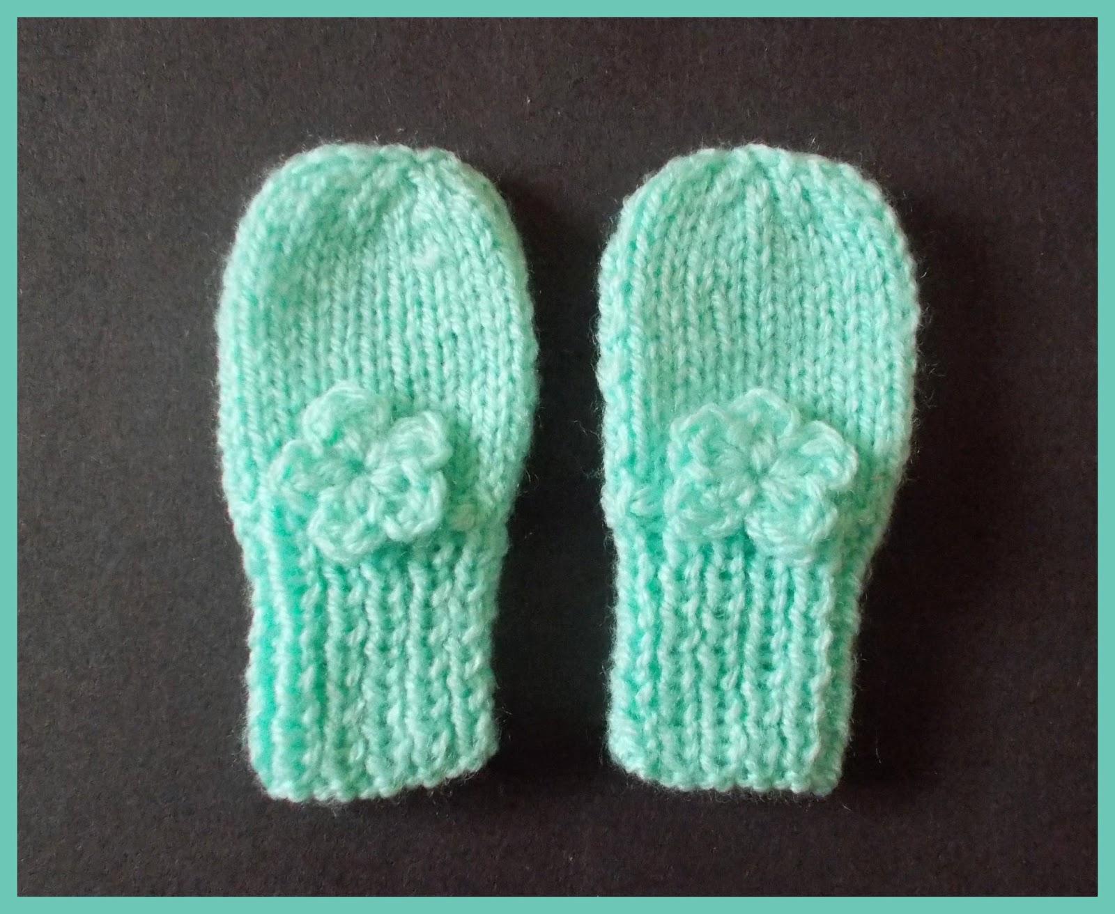 mariannas lazy daisy days: Simple Baby and Preemie Baby Mittens