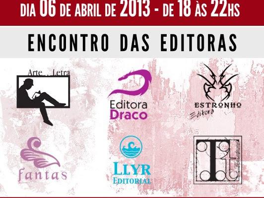 Bagunça Literária em São Paulo com Arte e Letra, Draco, Estronho, Fantas, Llyr e Tarja