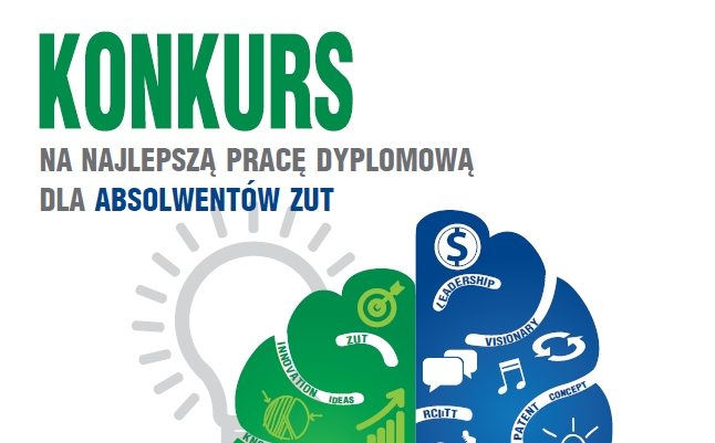 Konkurs na najlepszą pracę dyplomową z ZUT - plakat