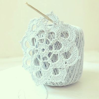 ByHaafner, crochet, doily, pastel blue