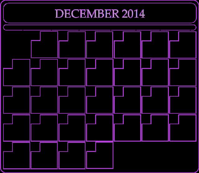 December Calendar 2014 : December calendar printable blank