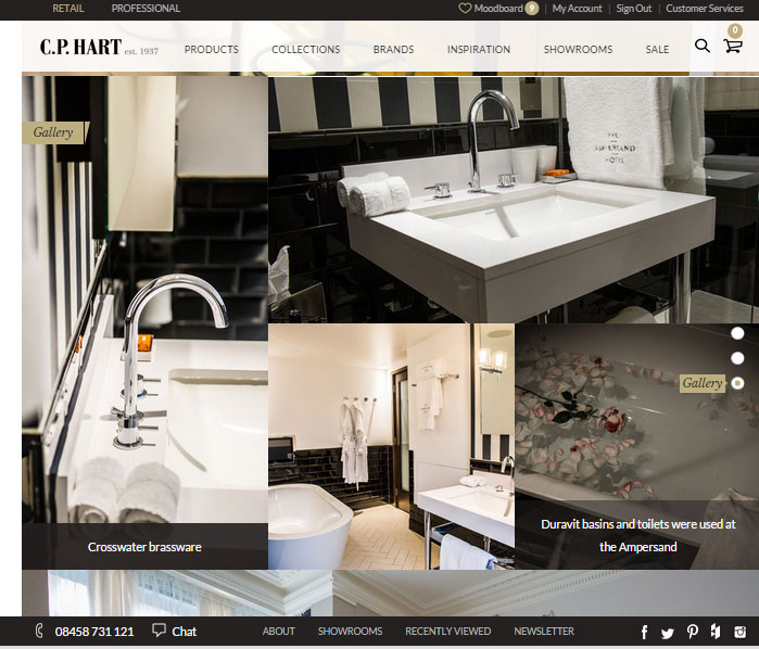 C.P. Hart showcase their new website for bathroom design