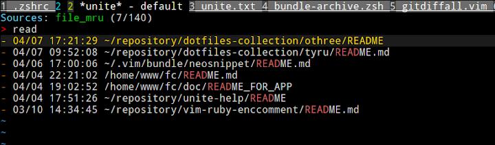 Unite file_mru