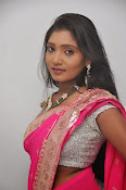 Actress Nisha Latest Photos in Pink saree-thumbnail-10
