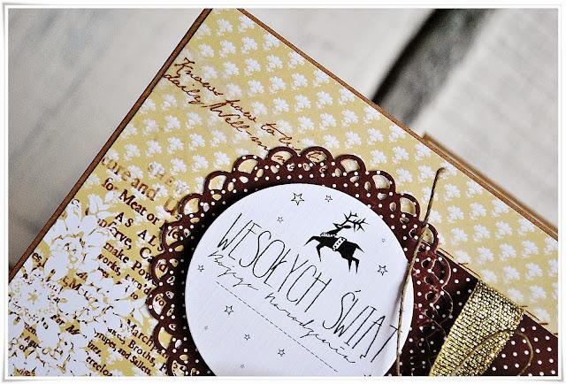 kartka świąteczna boże narodzenie scrapbooking