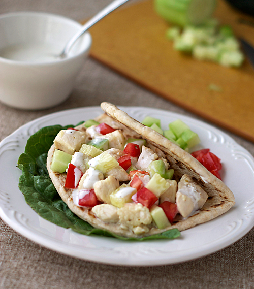 Quick Greek Chicken Pita