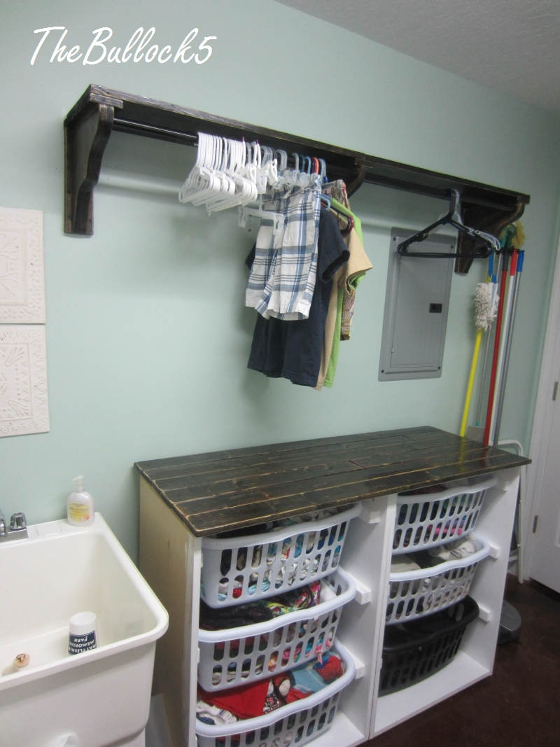 The Bullock 5 Laundry Room Dresser Shelf