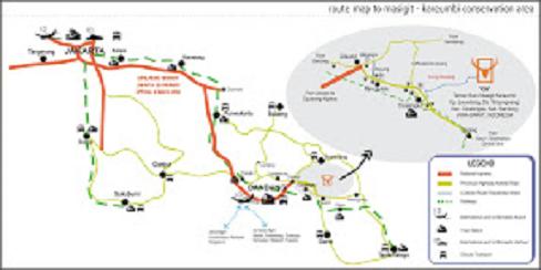 Akses menuju Taman Buru Masigit Kareumbi