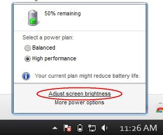 Mengatasi Laptop Win 7 tidak bisa Setting Brightness