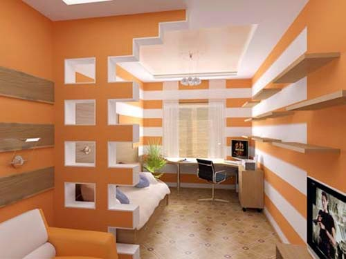 Modern gypsum board design catalogue for room partition walls for Interior design partition wall