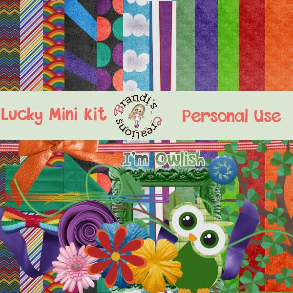 """Lucky"" free scrapbook from Brandi's Creations"