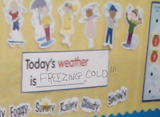 classroom weather calendar