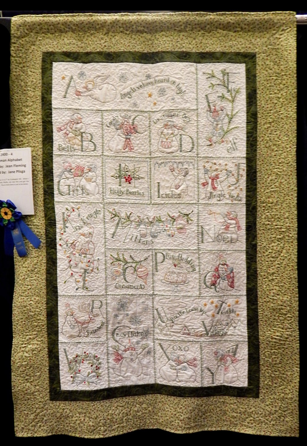 Check Out The Great Quilting Job Jane Plisga Did On Thi Quilt It's Often  Difficult To Quilt Atop Embroidery And Not Destroy The Integrity Of The  Design,