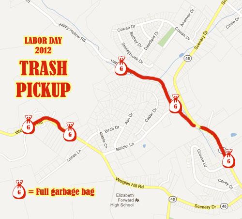 Labor Day 2012 Trash Pickup